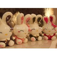 Buy cheap PP Cotton Smiling Stuffed Bunny Rabbit Golden Button Rabbit Cuddly Toy from wholesalers