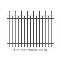 Buy cheap Extra Staggered Crimped Top Spear Garrison Fence panels 3 rails 2.1m x 2.4m stain interpon powder from wholesalers