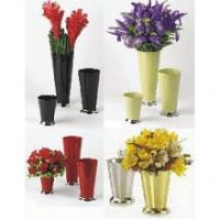 Buy cheap Foldable vase in black flower from wholesalers
