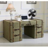 Buy cheap classical old style antique green canvas fabric home office desk furniture from wholesalers
