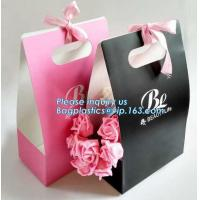 Buy cheap Free Design!! Free Sample!!! flower carrier bag transparent window paper bag valentine's gift clear window bags sample f from wholesalers