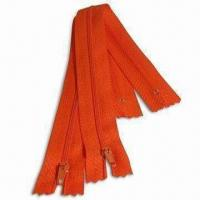 Buy cheap Orange Nylon Zipper C/E P/L in No 3, with Raw Material from Taiwan from wholesalers