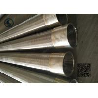 Buy cheap 304 / 316L Vee Round Well Screen Pipe Durable For Water Well Drilling product
