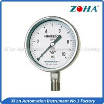 Buy cheap 100mm Stainless Steel Pressure Gauge / Anticorrosive Manometer Pressure Gauge from wholesalers