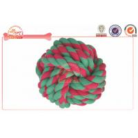 Buy cheap Knotted Ball Chewing Cotton Rope Dog Toy For Puppy , Large Dog Playing Chewing from wholesalers