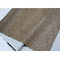 Buy cheap Light Brown Twotone Embossed Leather Fabric , Embossed PU Coated Leather from wholesalers