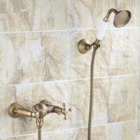 Buy cheap Antique Brass Finish Two Handles Tub Faucet with Hand Shower - FB005 from wholesalers