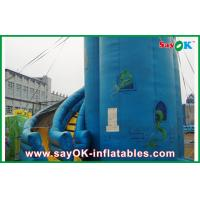 Buy cheap Customized Blue PVC Inflatable Bounce House / Inflatable Slide from wholesalers