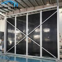 Buy cheap Sturdy Canopy Tent Parts Black Color Sandwich Panel Walls For Coffee Bar from wholesalers