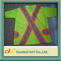 Buy cheap Orange Red Green Pink Traffic Reflective Safety Vests Clohting of 100% Polyester from wholesalers