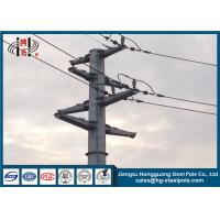 Buy cheap Polygonal Angle Type Electric Transmission Line Steel Power Pole for Overhead Line Project from wholesalers