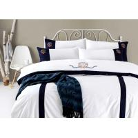 Buy cheap Luxury Hotel White Hotel Quality Bed Linen Duvet Cover Set 100% Cotton Embroidery from wholesalers