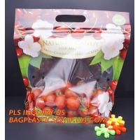 Buy cheap fresh fruit bag with vent hole for grape tomato cherry, fruit packaging anti-fog vegetable plastic bag, Customized Fruit from wholesalers