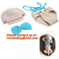Buy cheap Prop Eggs Handmade Infant Baby Knit Costume Crochet Hat Baby Accessories Sleeping Bag from wholesalers