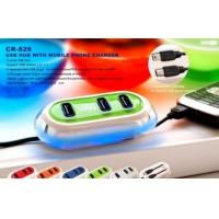 Buy cheap USB Hub With Mobile Phone Charger from wholesalers