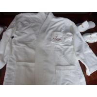 Buy cheap 100% cotton hotel bathrobe with customized embroidery logo and size from wholesalers