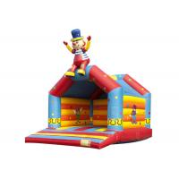 Buy cheap Clown Commercial Grade Bounce House , Funny Cartoon Toddler Bouncy Castle product