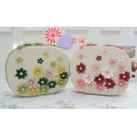 Buy cheap Rivet PU small flower straw cross-body beach bag, female beach tote bag from wholesalers
