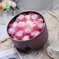 China Long lasting preserved flowers in surprise magic flower box for lover  rose big preserved rose in poke ball on sale