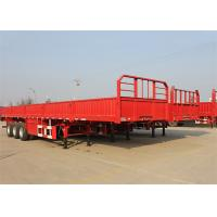 Buy cheap Cargo Semi Trailer / Flat Bed Semi Trailer with Side Wall / Side Panel Cargo Trailer from wholesalers