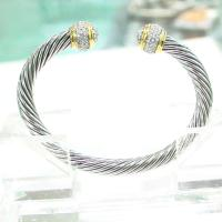 Buy cheap (B-50)Women Fashion Designer Gold Silver Tone Cable Bracelet with Cubic Zircon from wholesalers