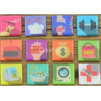 Buy cheap Tourist Full color Printed Fridge Magnets Promotional 3D Square CE/ROHS from wholesalers