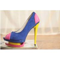 Buy cheap 2012 High Heel Pu Leather Fish Mouth Pumps Fashion Women Shoes Online/ from wholesalers