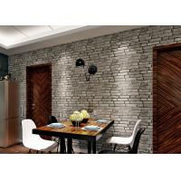 Buy cheap 3D Brick Effect Washable Vinyl Wallpaper For House Decoration , 0.53*10M size from wholesalers