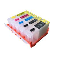 Buy cheap Color Compatible Printer Ink Cartridges , Black / Yellow Canon Refillable Ink from wholesalers
