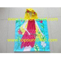 Buy cheap 100% cotton children hooded towel,kids beach towel poncho from wholesalers