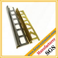 Buy cheap brass extrusion profiles not lead-free for brass floor / stair nosing / edging / trim, drilling holes, punch from wholesalers