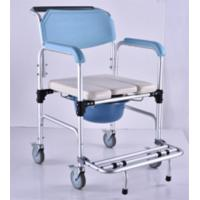 Buy cheap Elderly Adjustable Bath Seat Chrome Steel Folding Backrest Toilet Commode Chair from wholesalers