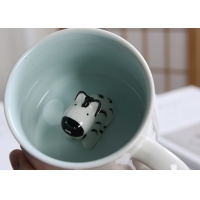 Quality Dolomite Round 3D Bear Personalised Ceramic Mugs for sale