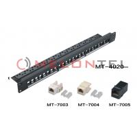 Buy cheap FTP UTP Blank Patch Panel , 24 Port Cat5e Patch Panel With Cable Manager from wholesalers