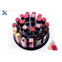 Buy cheap 2 Tiers Round Acrylic Makeup Organiser 360 Degree Rotating For Displaying Lipsticks product