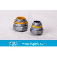 """Buy cheap 4"""" Flexible Conduit And Fittings Blue / Yellow Straight Liquid Tight Connector product"""