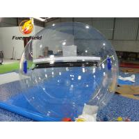 Buy cheap Colorful Water Toy Ball Stripe Clear Inflatable Water Ball For Pool Or Lake from wholesalers