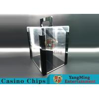 Buy cheap Gambling RFID Chips Acrylic Carrier Portable Poker Chip Holder With Tray For 1000 Pcs 40mm Casino Poker Chips from wholesalers