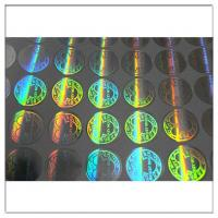 Buy cheap Custom printed round hologram sticker label,  anti tamper security waterproof custom hologram label from wholesalers