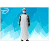 Buy cheap Plastic Coated Aprons Waterproof  43 Gsm / Disposable White Coats from wholesalers