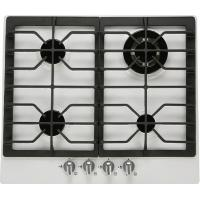 Buy cheap 60cm white enameled built in gas hob from wholesalers