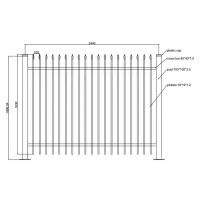 Buy cheap Wrought Iron Fences and Gates PVC Coated Ornamental Wrought 1800L x 1500H from wholesalers