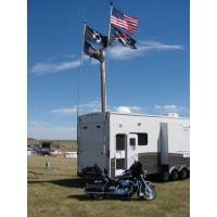 Buy cheap 9ft fiberglass Team or Military extendable flag pole Wear - resistant from wholesalers