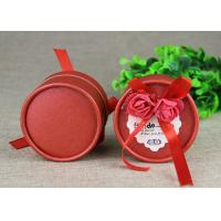 Buy cheap Mini Red Round Boxes and  Paper Cans  for Wedding Gift / Birthday Gift Packaging from wholesalers