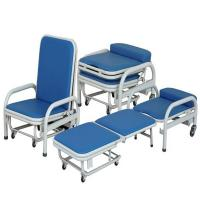 Buy cheap Cold Rolled Steel Hospital Waiting Area Chairs Folding Accompany Chair Space Saving product