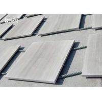 Buy cheap Polished Wood Vein Marble Stone Tile For Interior Wall Cladding Customized Size from wholesalers