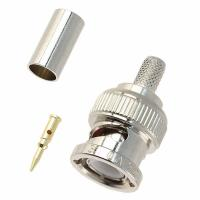 Buy cheap BNC Male crimp type connector for RG58/U, RG59/U, RG6/U and RG174/U Coaxial Cable from wholesalers