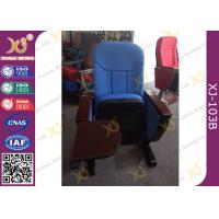 Buy cheap Long-term Comfort No Floor Fixed Blue PP Back Conferece Hall Chairs With MDF Pad from wholesalers