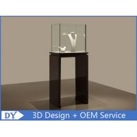 Buy cheap Se - mi Finished Black Glass Jewelry Display Case With Lights 450 X 450 X 1200MM from wholesalers