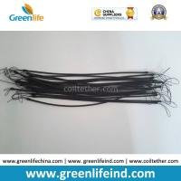Buy cheap TPU Cord 1.2MM Unextended Length 30CM Black Nylon String 5CM Height on Two Ends Stop-drop Coil Lanyards from wholesalers